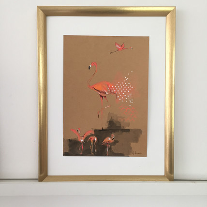 Dance with flamingos (SOLD)