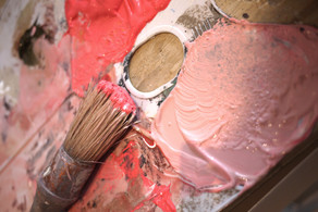 Pink cement palette