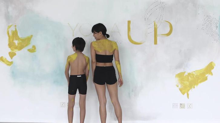 Yoga Up body painting