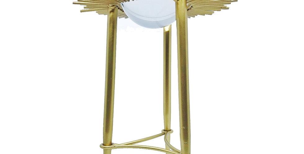 Escultura Solar Esfera Cristal Alta M Bluegaya frontal
