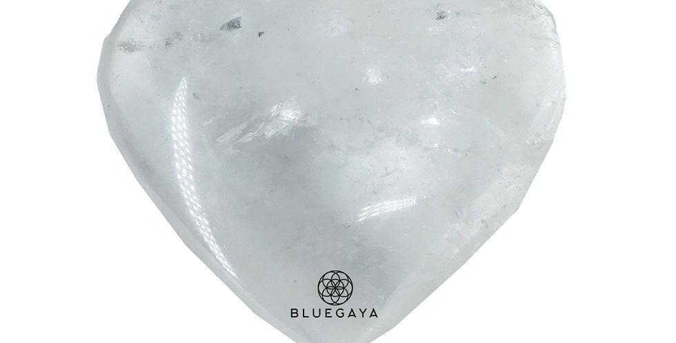 Coração de Quartzo Branco Bluegaya