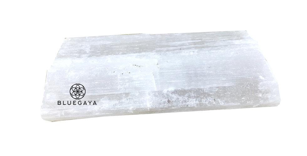 Placa Retangular de Selenita Branca Bluegaya