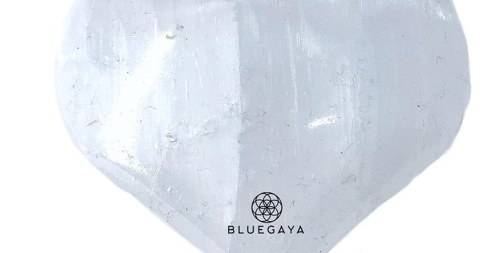 Coração de Selenita Branca Bluegaya