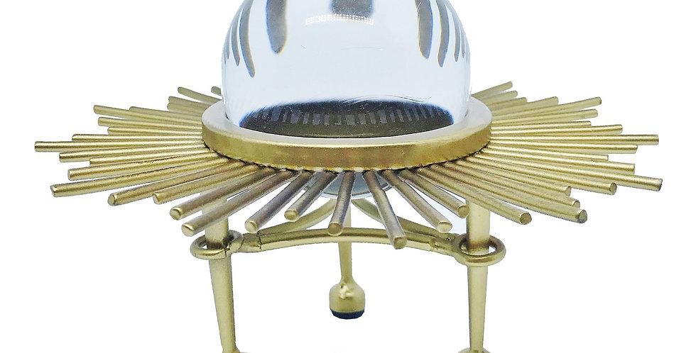 Escultura Solar Esfera Cristal Baixa Bluegaya frontal
