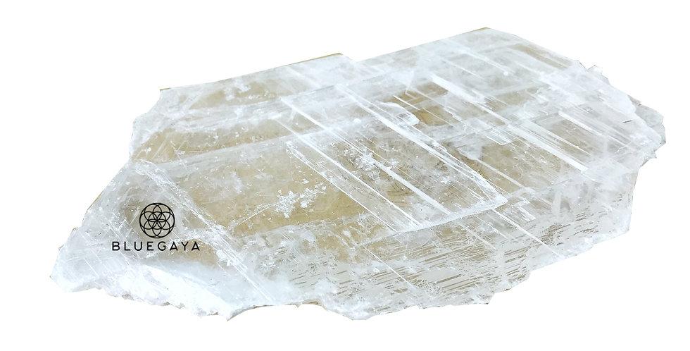 Placa Irregular de Selenita Branca Bluegaya