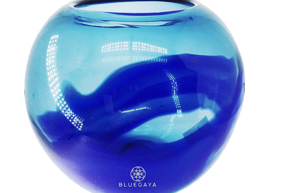 Vaso Centro de Mesa em Murano Blue Sea Bluegaya