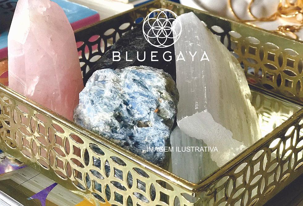 Bandeja Espelho Quadrada Porta-joias Dourada Bluegaya