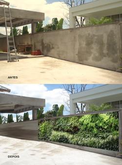 Fotomontagem de Jardim Vertical