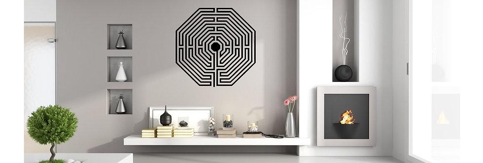 Bluegaya Labirinto de Damiens Mandala em adesivo