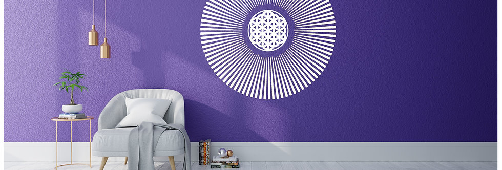 Bluegaya Sol & Flor da Vida Mandala em adesivo