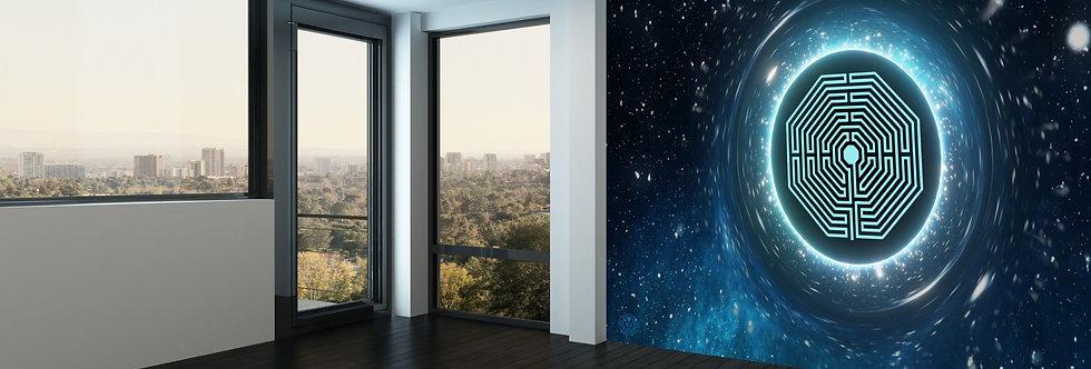 Bluegaya Universe Damiens Adesivo de parede Geometria Sagrada