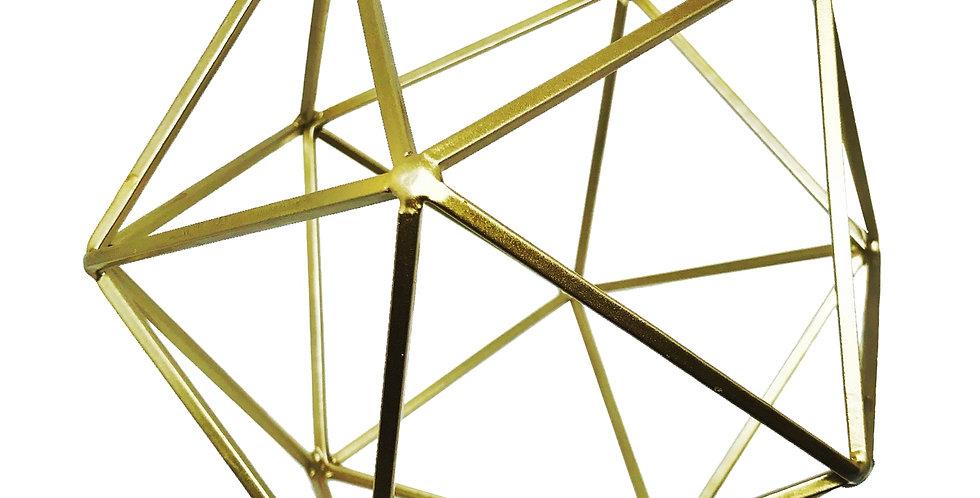 Escultura Geométrica Dourada metal Bluegaya vista 1