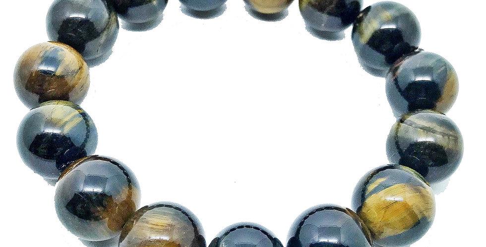 COLEÇÃO STONE THERAPY Pulseira Olho-de-Falcão 15 mm