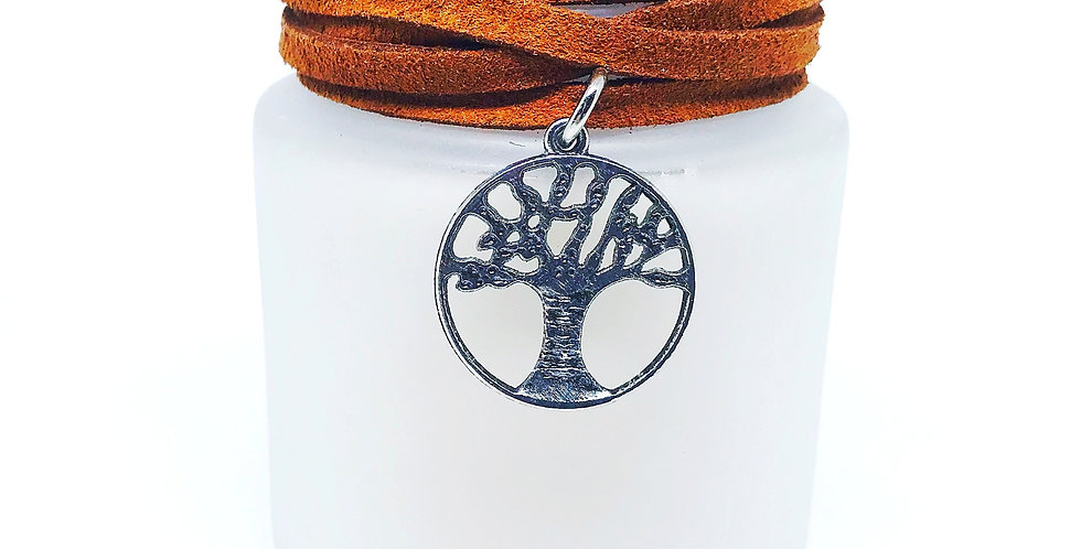Vela Perfumada Wood Pingente Árvore-da-Vida Bluegaya