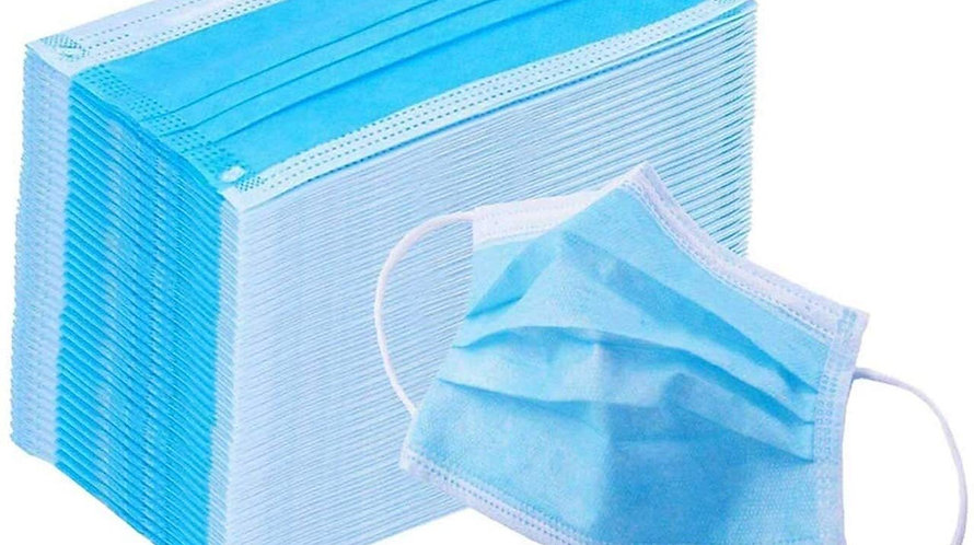 100 x 3 Ply Disposable Community Face Mask