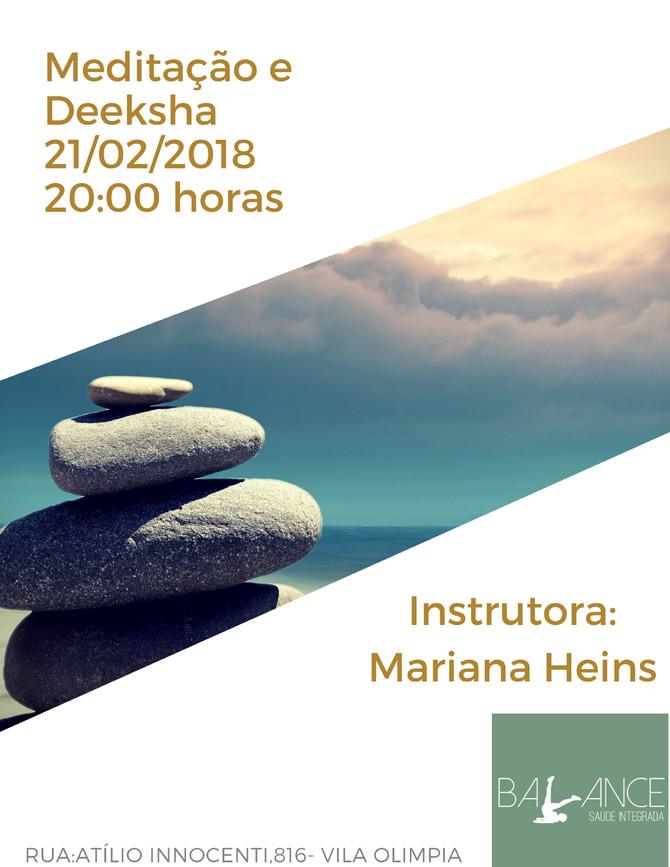 Meditação e Deeksha