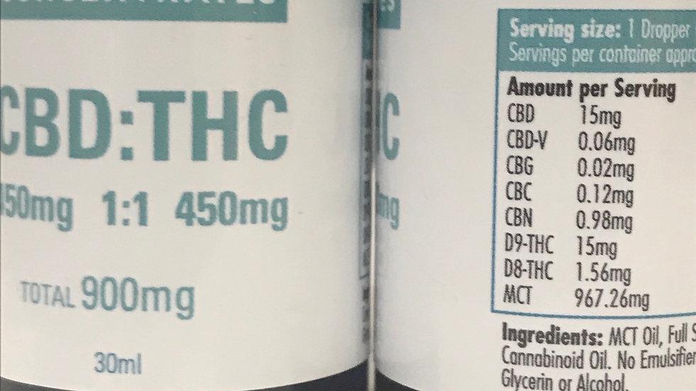 COAST  COCENTRATES:CBD:THC 900MG/ 1:1 ratio
