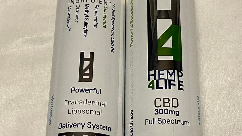 HEMP4LIFE (DEEP TISSUE RELEASE/ FULL SPECTRUM/ COOL EUCALYPTUS) 300mg