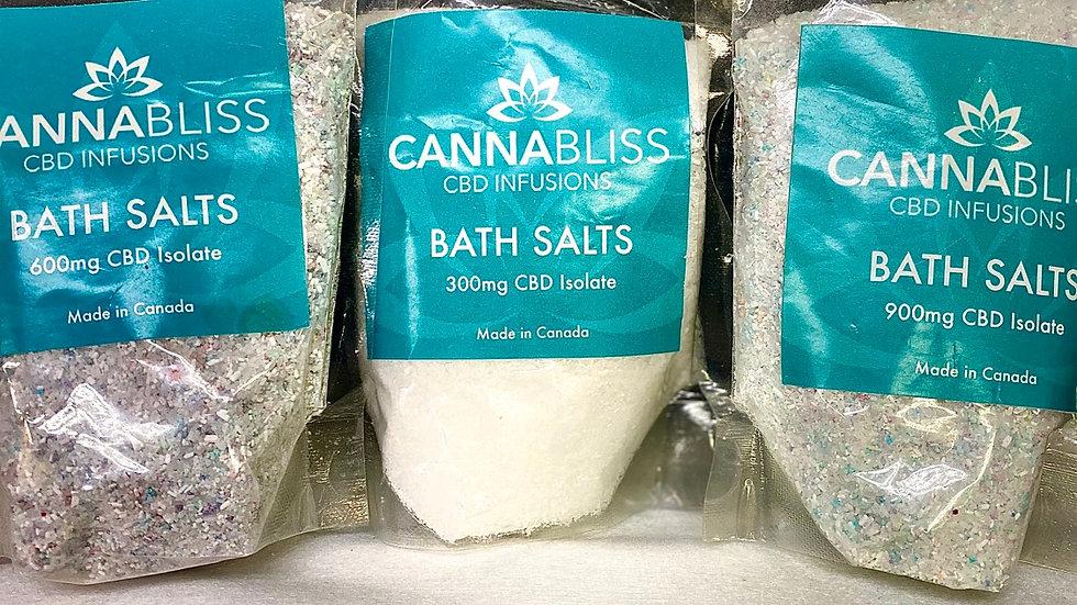(CANNABLISS) 600mg CBD BATH SALTS