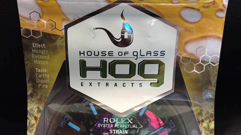 HOG Shatter (ROLEX HEAD KUSH) INDICA *1g/$30 or 2g/$50