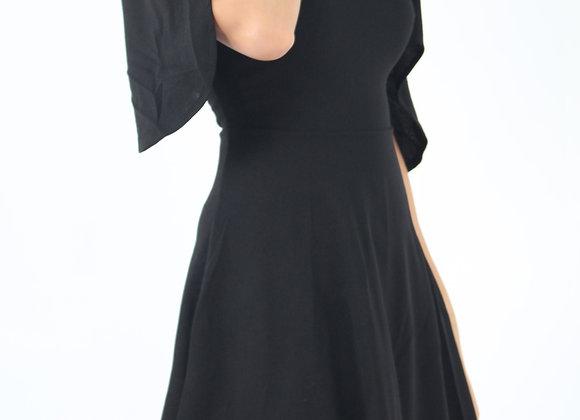 Keanna Off Shoulder Dress In Black