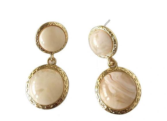 Chantel Earrings In White