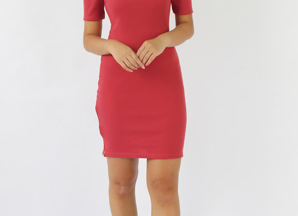 Karrie Off-shoulder Dress In Pink