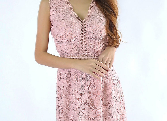 Lina V Lace Dress In Pink