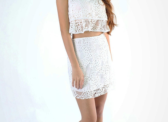 Jess Lace Set In White
