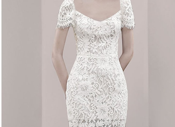 Ana Lace Bodycon Dress In White