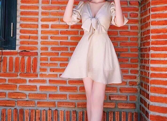 Faye Ribbon Front Silky Dress