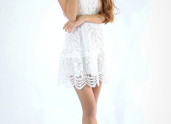 Kimi Lace Dress in White