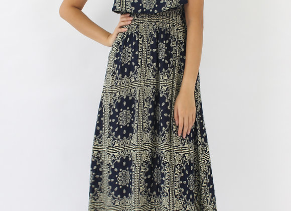 Mongolian Overlay  Maxi Dress