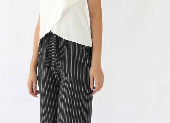 Jane Stripes Culottes In Black