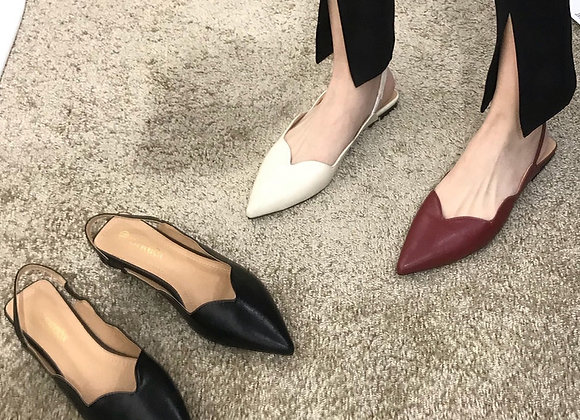 Tippi Pointed Strap Flats (Available in 3 Colors)