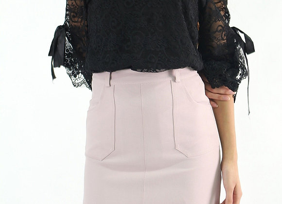 Heidi Lace Top In Black