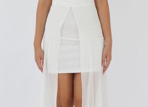 Elite Off-Shoulder Dress In White