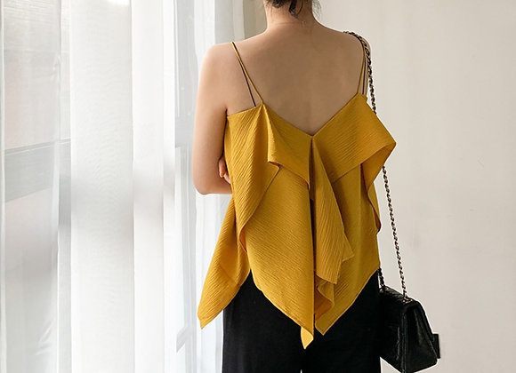 Basic Two Way Top In Mustard
