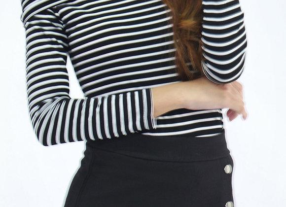 Basic Off Shoulder Top In Black