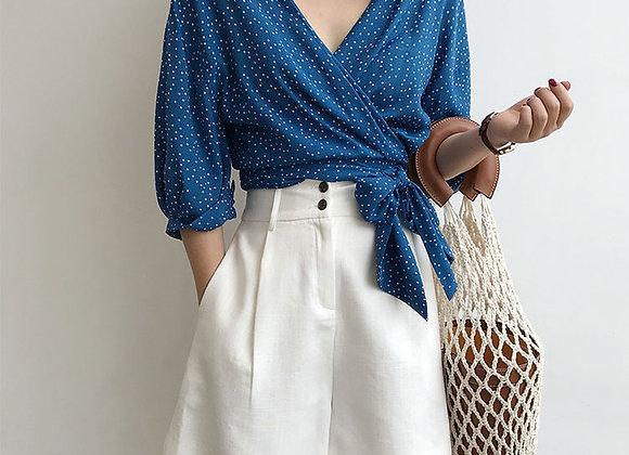 Linen High Waist Shorts