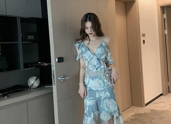 Paisley Floral Ruffled Dress