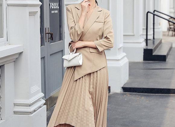 Carrie Blazer Pleats Dress
