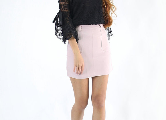Constance Mini Skirt in Pink