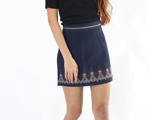 Tribal Skirt in Navy Blue