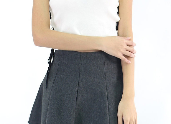 Cross Knit Top In White