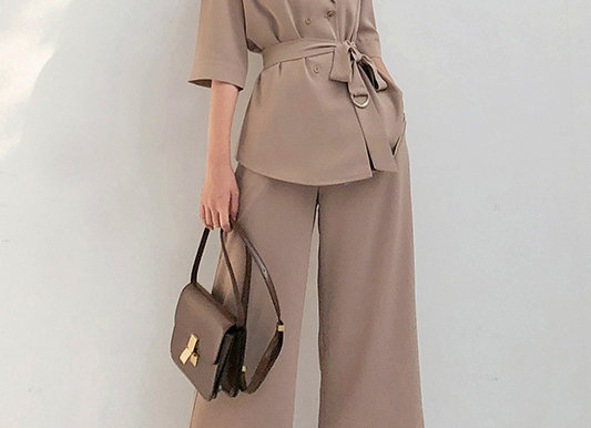 Eve Suit Set In Khaki