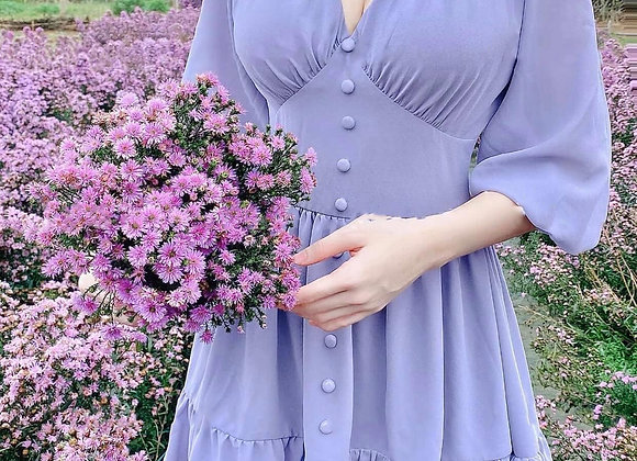 Jerin Babydoll Dress In Lilac