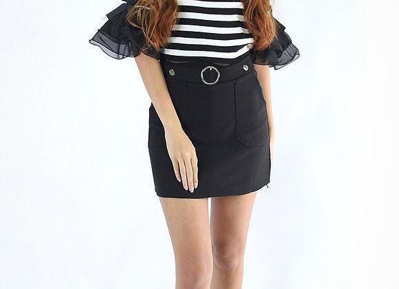 Adrina Knit Top In Black