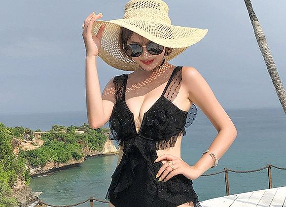 Sofia Lace Ruffled Swimsuit