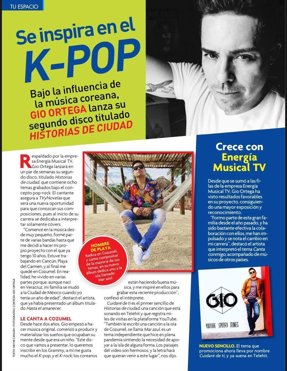 Gio Ortega Entrevista En TV y Novelas